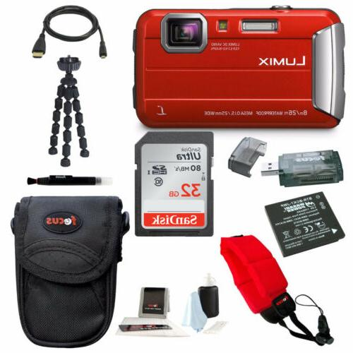 Panasonic Lumix DMC-TS30 Digital Camera  with 32GB Accessory