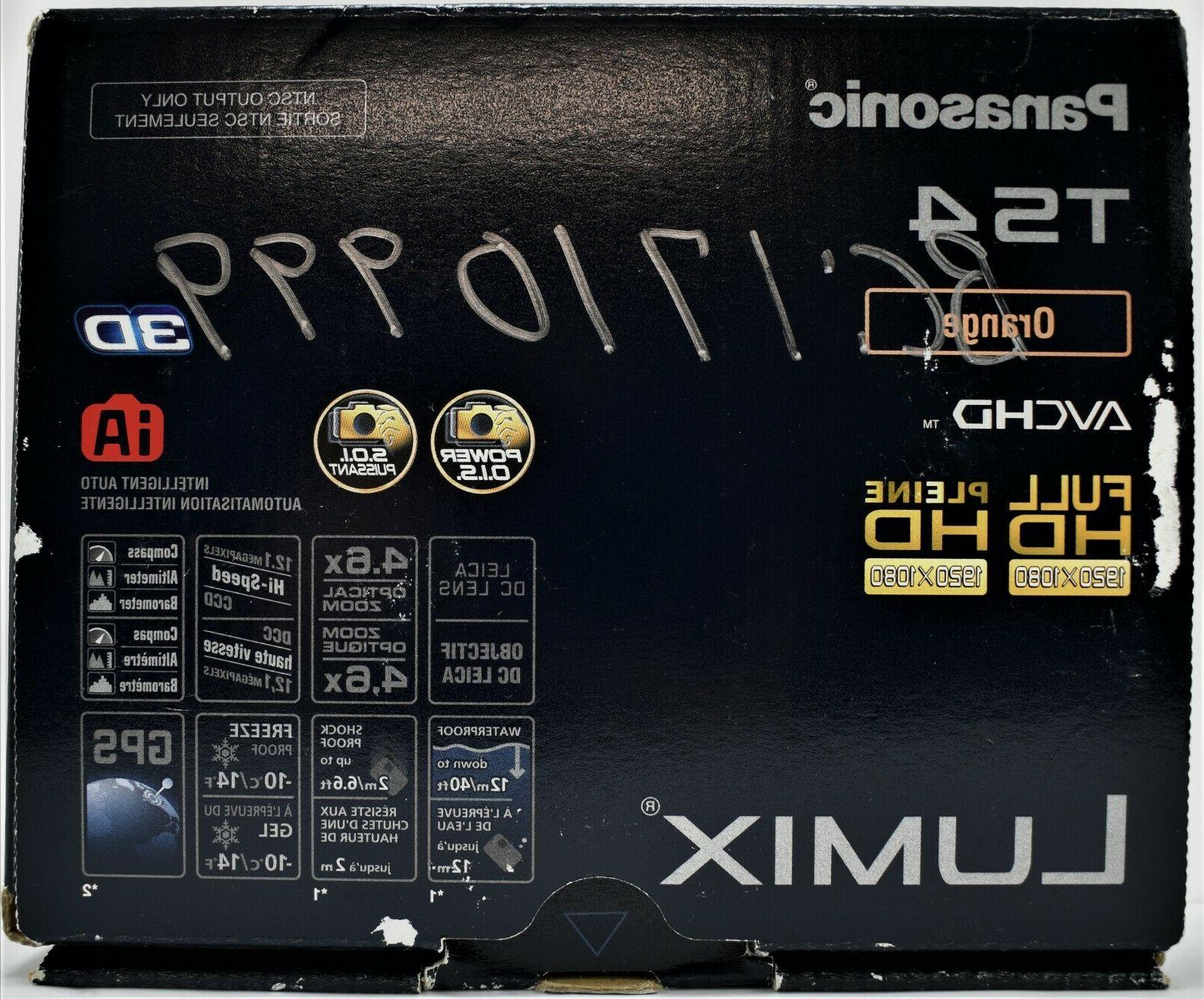 Panasonic LUMIX DMC-TS4 12.1MP Waterproof & Shockproof Digit