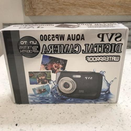 NEW SVP Aqua WP5300 Waterproof Underwater Digital Camera Bla