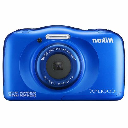 New Nikon COOLPIX W100 13.2 MP Waterproof Shockproof Digital