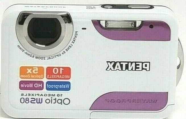 optio ws80 waterproof camera 10mp hd movie