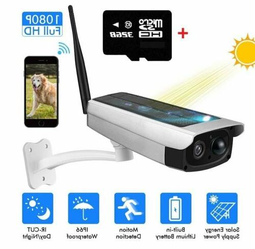 outdoor solar powered wireless wifi security camera