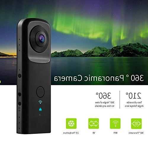 YUNTAB Panoramic Camera WiFi 2.0The Aperture Video 1400mAh 210-Degree Ultra Wide Angle Lens Panoramic
