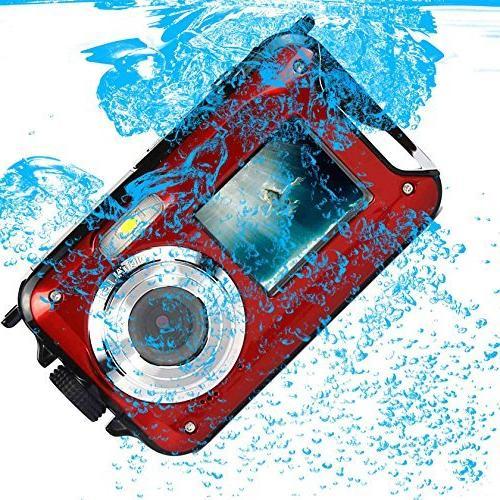 PowerLead PLDH21 Double Waterproof 2.7-Inch Front Easy Shot Camera