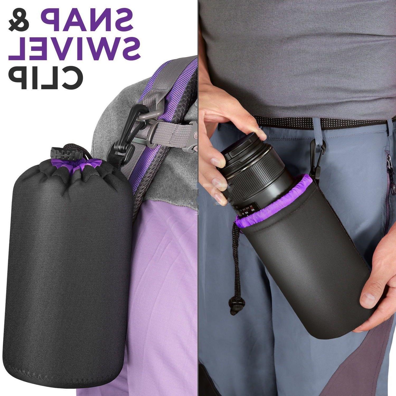 S/M/L/XL Neoprene DSLR Camera Lens Soft Protector Pouch Case