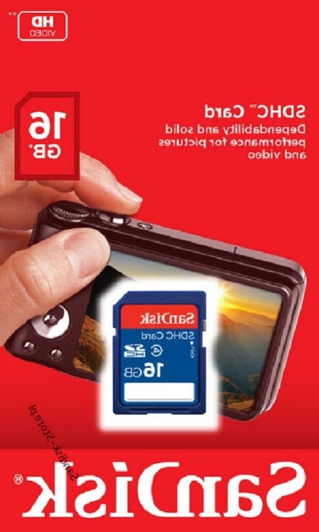 SanDisk 16GB Class 4 SD 16G Camera **Retail