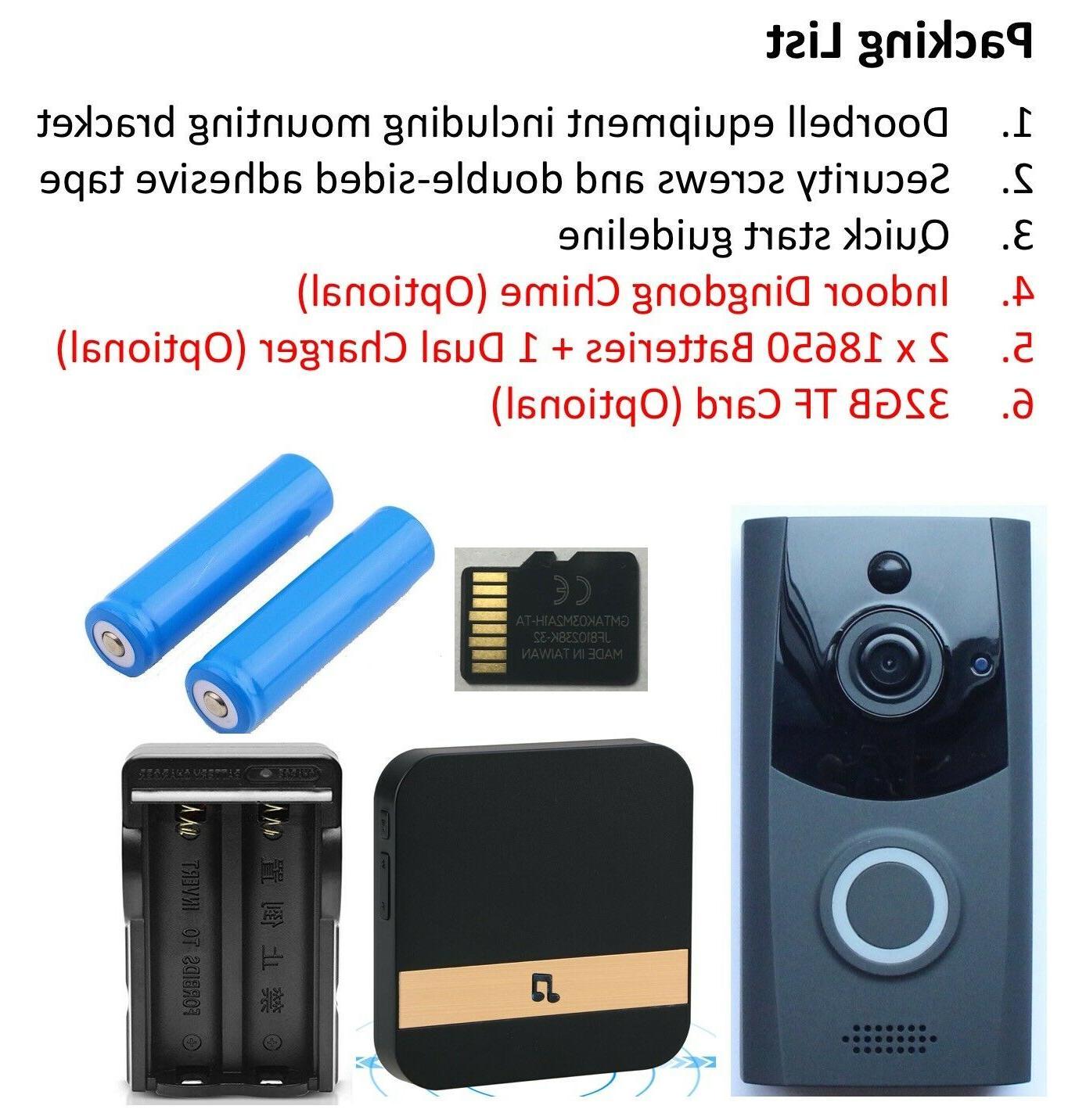 Smart WiFi Doorbell Video Camera Security Bell Waterproof