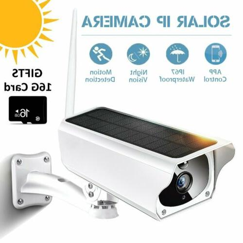 Outdoor Solar Wireless WiFi 1080P Security IP67 Camera Water