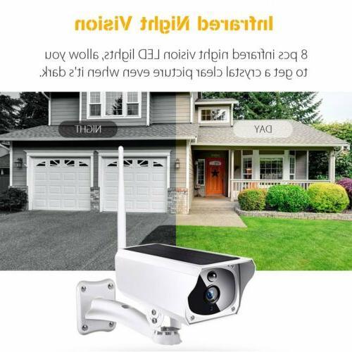 Solar 1080P WiFi IP Camera Waterproof Vision