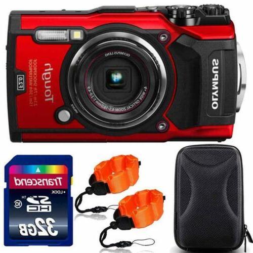 tough tg 5 waterproof digital camera red