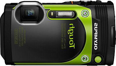 Olympus Tough TG-870 Megapixel Green - Optical Zoom - 4x - Optical, Digital 4608 3456 - x PictBridge - HD Mode - LAN - GPS
