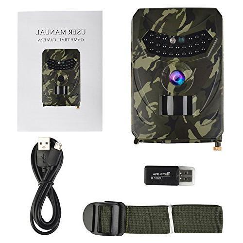 TKKOK Camera Night cam,Game 1080P Full HD Camera, 26 Pcs LED Wide Waterproof Infrared