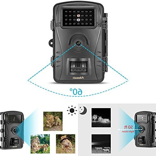 "Trail Camera, And Hunting With Waterproof Digital 2.4"" 50 Night Distance,"