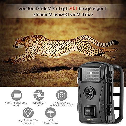 "Trail Abask And Wildlife With Waterproof Case 2.4"" Screen HD 50"