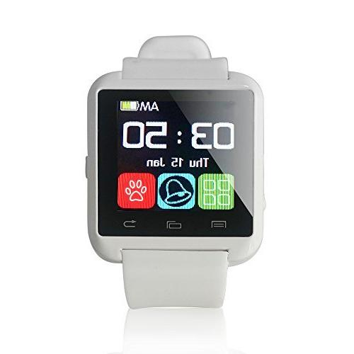 u8 smartwatch compatible ios and android white