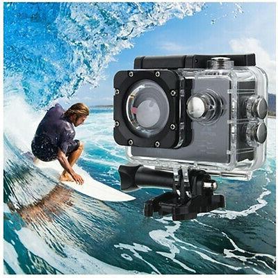 Sport Action Camera Helmet Cam Waterproof HD 1080P Black