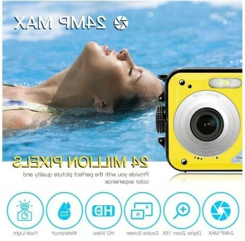 Underwater Camera 24.0MP Waterproof Digital