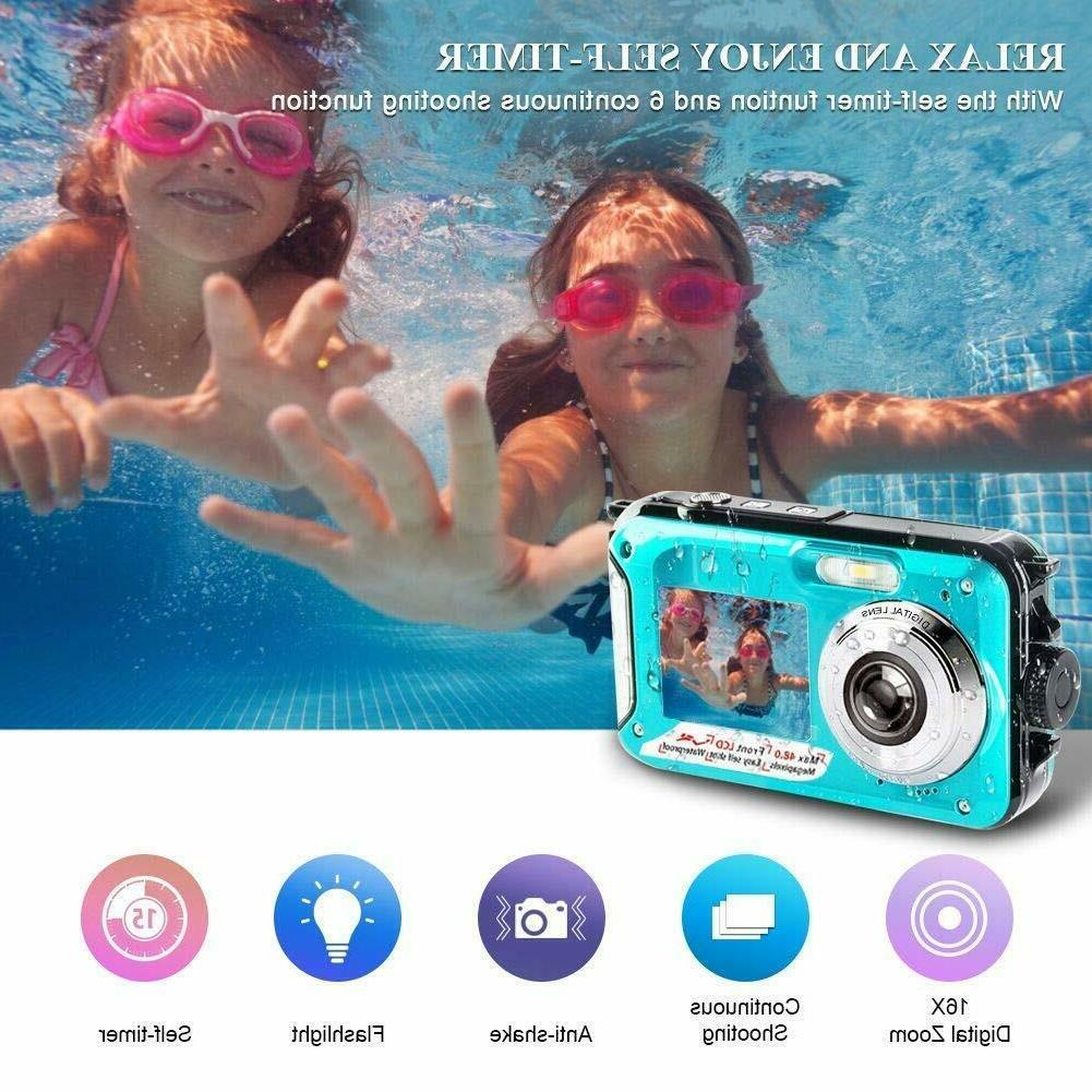 Underwater Camera 48 MP Camera Selfie Dual Screen