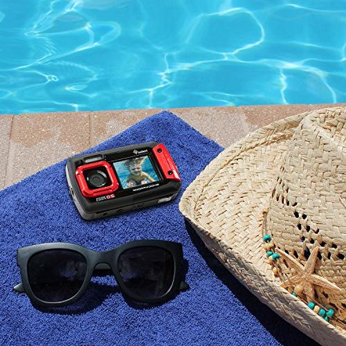 Ivation 20MP Underwater Waterproof Shockproof Digital Camera & Video Full-Color LCD – Submersible Up to 10 Feet