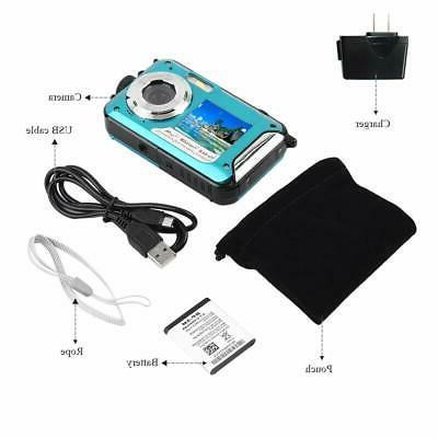 Underwater Waterproof Digital HD 1080P 24MP Dual Screen DV