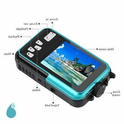 Underwater Waterproof Digital Camera HD 1080P Screen