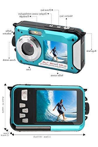 YISENCE Underwater Camera 24.0MP Waterproof Camera Full HD Dual Point and Shoot Digital Camera