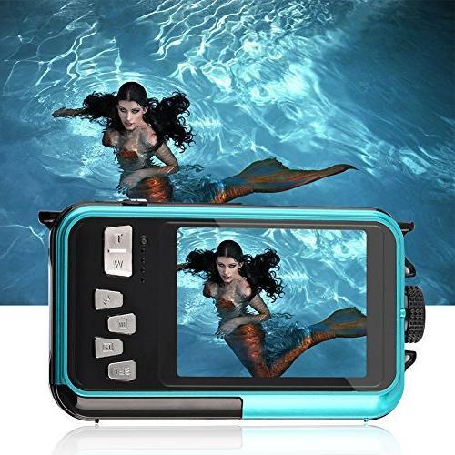 YISENCE 24.0MP Waterproof Digital HD 1080p Dual Screen Point Camera