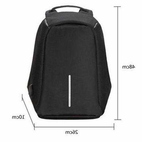 Unisex Anti-Theft Waterproof Backpack USB Port XD Bobby Camera Laptop
