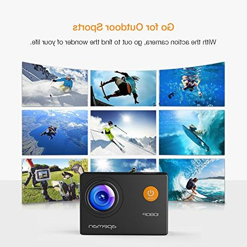 APEMAN 1080P Full Camera Underwater with Degree Angle and Kits