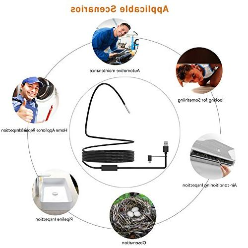 USB in 1 Type C Borescope Camera, 5.5mm with Adjustable Led PC Inspecting Hard-to-Reach Place