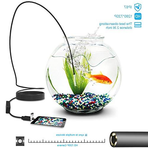 USB in 1 Semi-Rigid Borescope Camera, 5.5mm Waterproof Snake with 6 Adjustable Led Lamp PC MacBook Inspecting Hard-to-Reach Place
