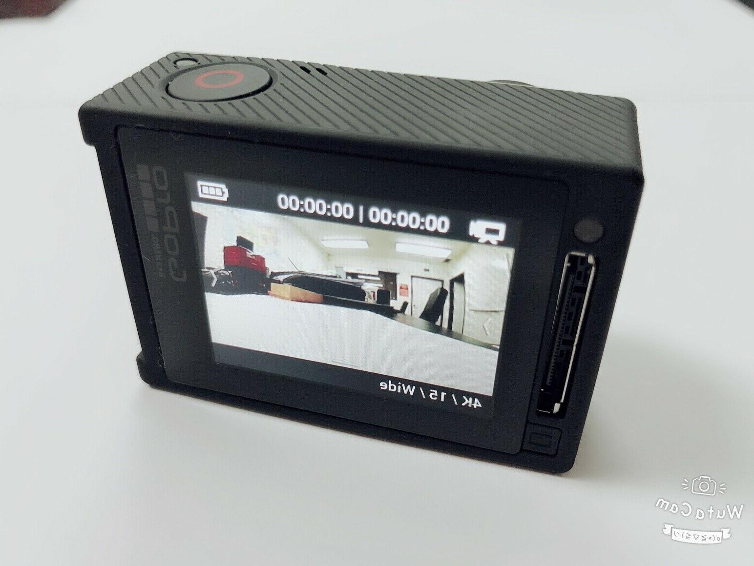 Used Silver 4K HD Action LCD Camera