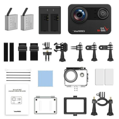 Action Camera 20MP FHD Touch Sport Camcorder