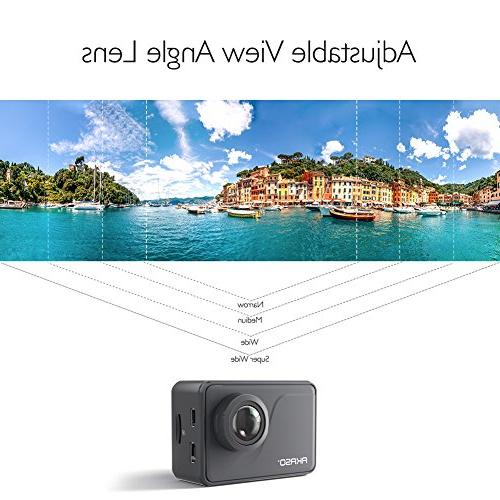 AKASO Pro Native 4K/30fps WiFi Camera with Touch 30m External Mic Accessories