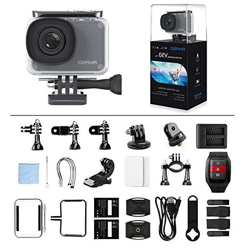 AKASO V50 Pro 4K/30fps Action Camera with EIS Touch Screen Adjustable View Angle External Mic Accessories