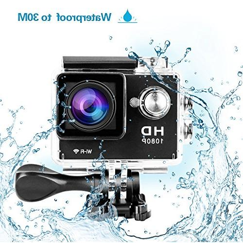 Yuntab W9 WiFi 170 1080p inch LCD Waterproof Car Action Camera Set