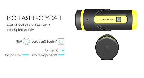 Yuntab Action Camera H.265 3400mAh Sensor 1080P Wide Camcorder 12-Month Standby WiFi Remote