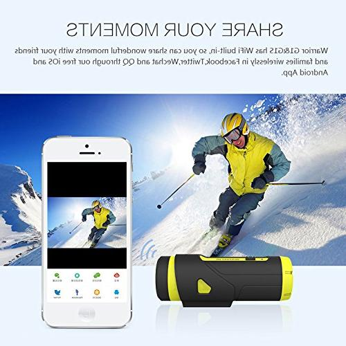 Yuntab Action Camera 3400mAh Startup Sensor 1080P Wide Angle Standby WiFi Wireless Remote