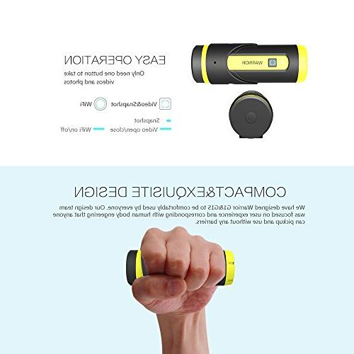 Yuntab Warrior Action H.265 3400mAh Top-Speed Startup Sensor Waterproof 165° Wide Camcorder 12-Month Standby Remote Control