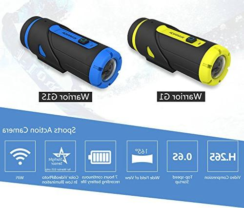Yuntab G1 Action H.265 3400mAh Top-Speed G- Sensor 1080P Waterproof Standby
