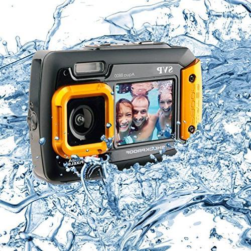 SVP Waterproof - 8800 Shockproof UnderWater Digital Camera Video recorder Orange By SVP