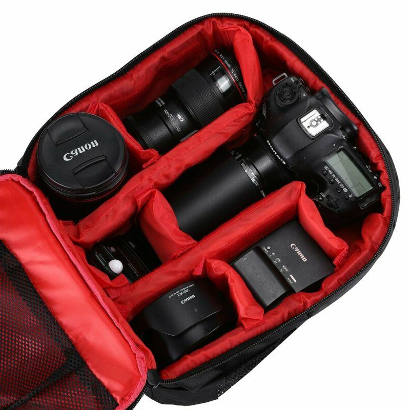 Waterproof Camera Backpack for DSLR and Padded Canon Sony