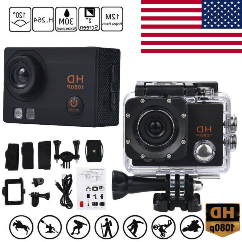 waterproof camera hd 1080p sport action camera