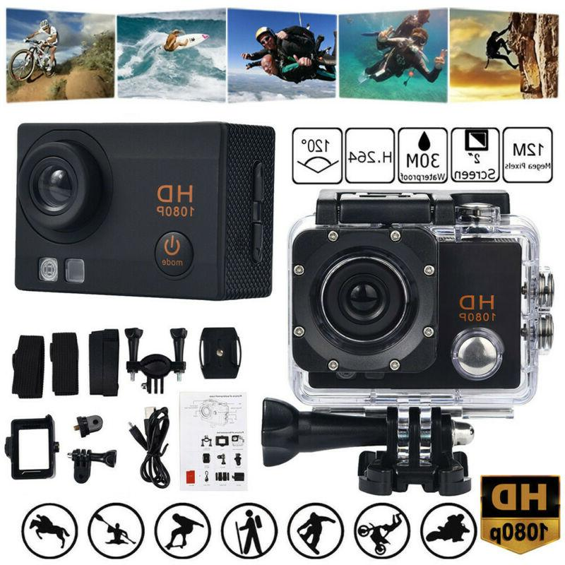 action camera 1080p 12mp sports camera waterproof