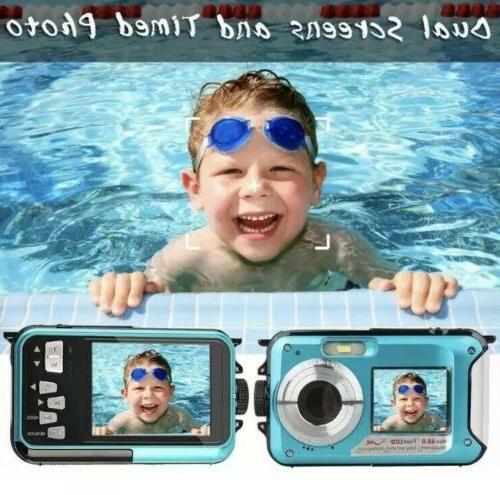 Waterproof Camera Underwater 10 FT 2.7K Full HD Zoom