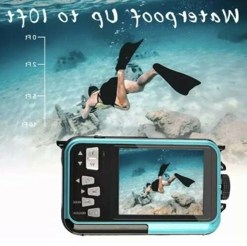 Waterproof Camera Underwater Camera 10 2.7K HD 48MP Zoom