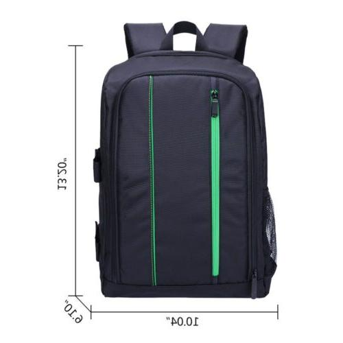Waterproof Large Camera Backpack Padded Shoulder Canon
