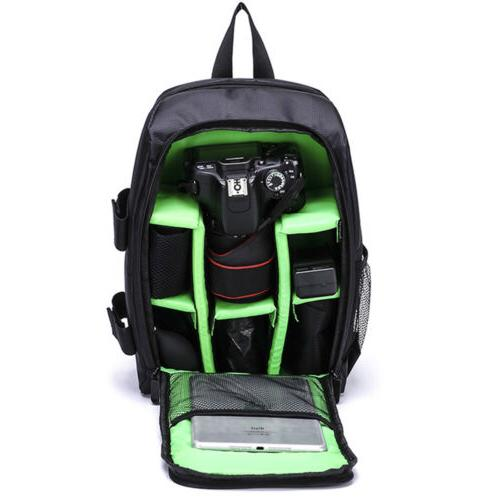 Waterproof Large DSLR Backpack Padded Shoulder Bag Nikon