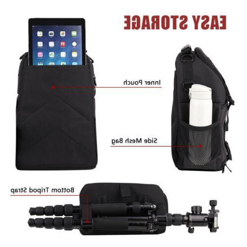 Waterproof Nylon Camera Sling Backpack Bag for Nikon DSLR Mirrorless