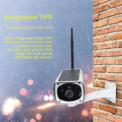Waterproof Solar WiFi 1080P Camera Night